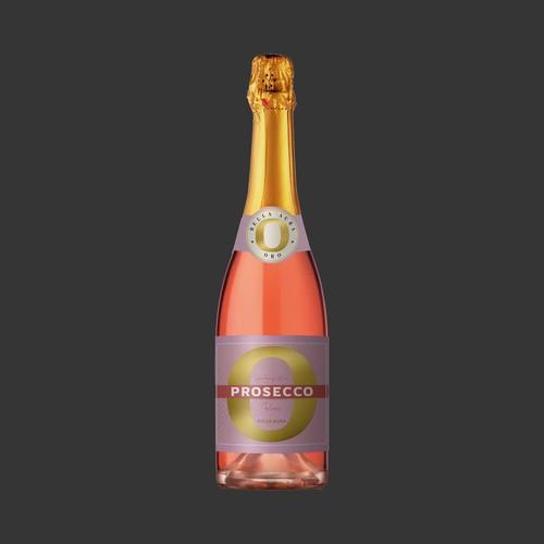 Prosecco Rosé label design