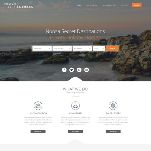 Noosa Secret Destinations Web Design