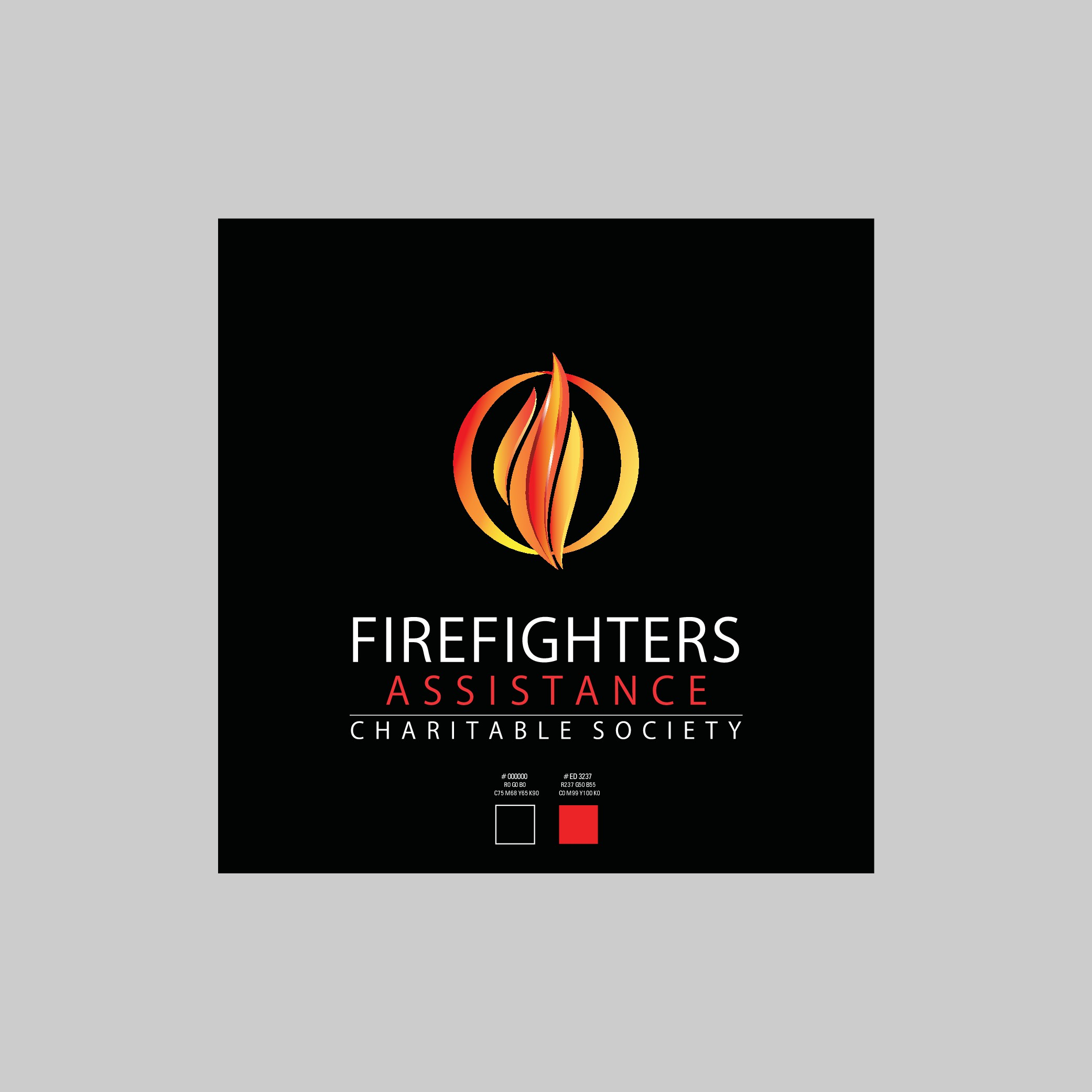 "Logo for a charity who's mandate is ""support and empower firefighters"" with a focus on mental health"
