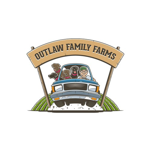 Fun Logo for Outlaw Family Farm