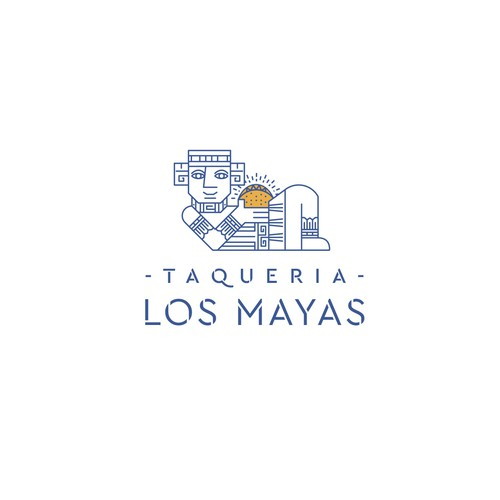 Logo for a Mayan Taqueria