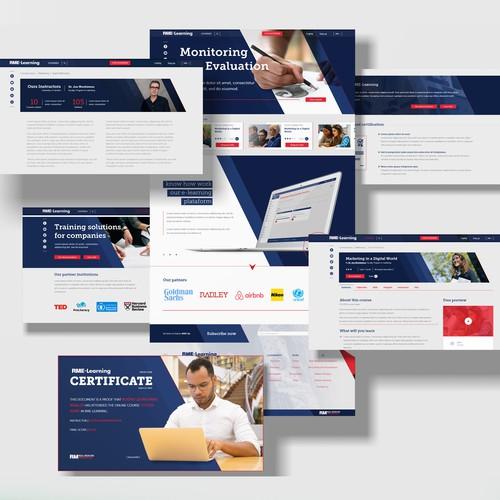 RME Learning web site design.
