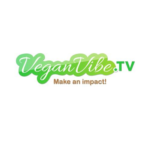 Logo Design for Vegan Vibe T.V