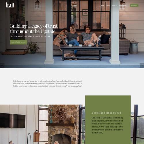 Squarespace Custom Home Builder Website