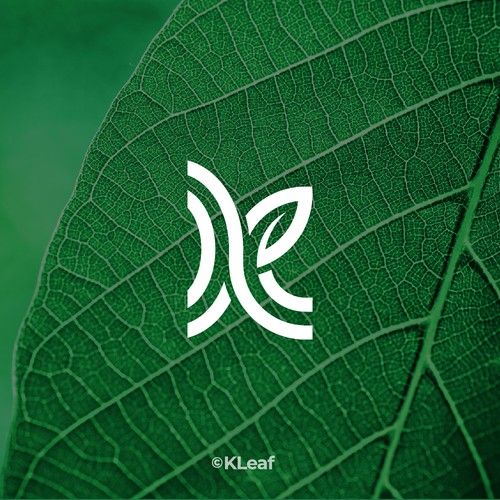 K + leaf icon by idStudio