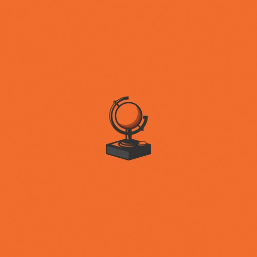 Joystick/Globe logo concept