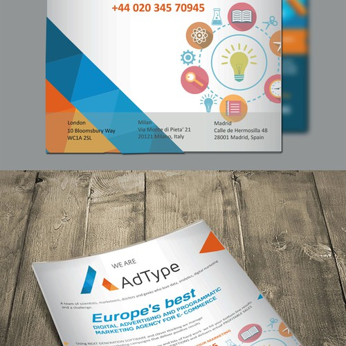 Full page magazine back-cover for digital marketing agency