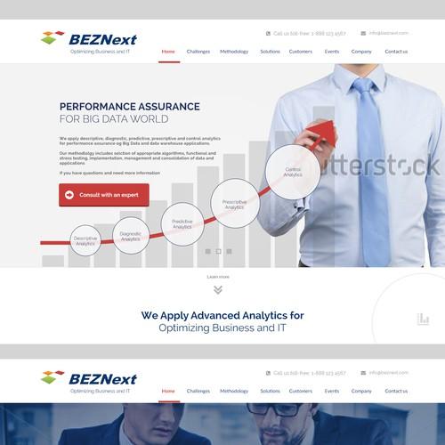 Website Design for Big Data Analytic Firm