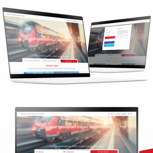Home Page & Result Page for Train Tickets Website