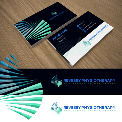 Modern, professional logo for a physiotherapy practice
