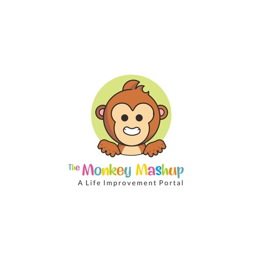 Fun, Simple & Bright MonkeyMashup logo for Parenting/Wellness Site
