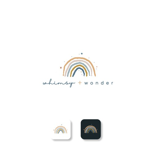 Simple and colorful logo design