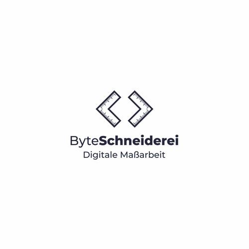 Modern logo for ByteSchneiderei