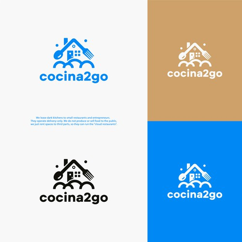 Logo for the kitchen rental company