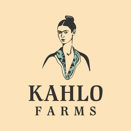Logo concept for Kahlo avocado farm
