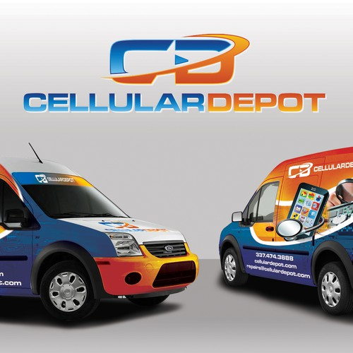 Cellular Depot Delivery Van Graphics