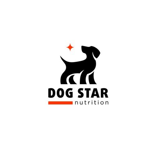 Dog star logo design