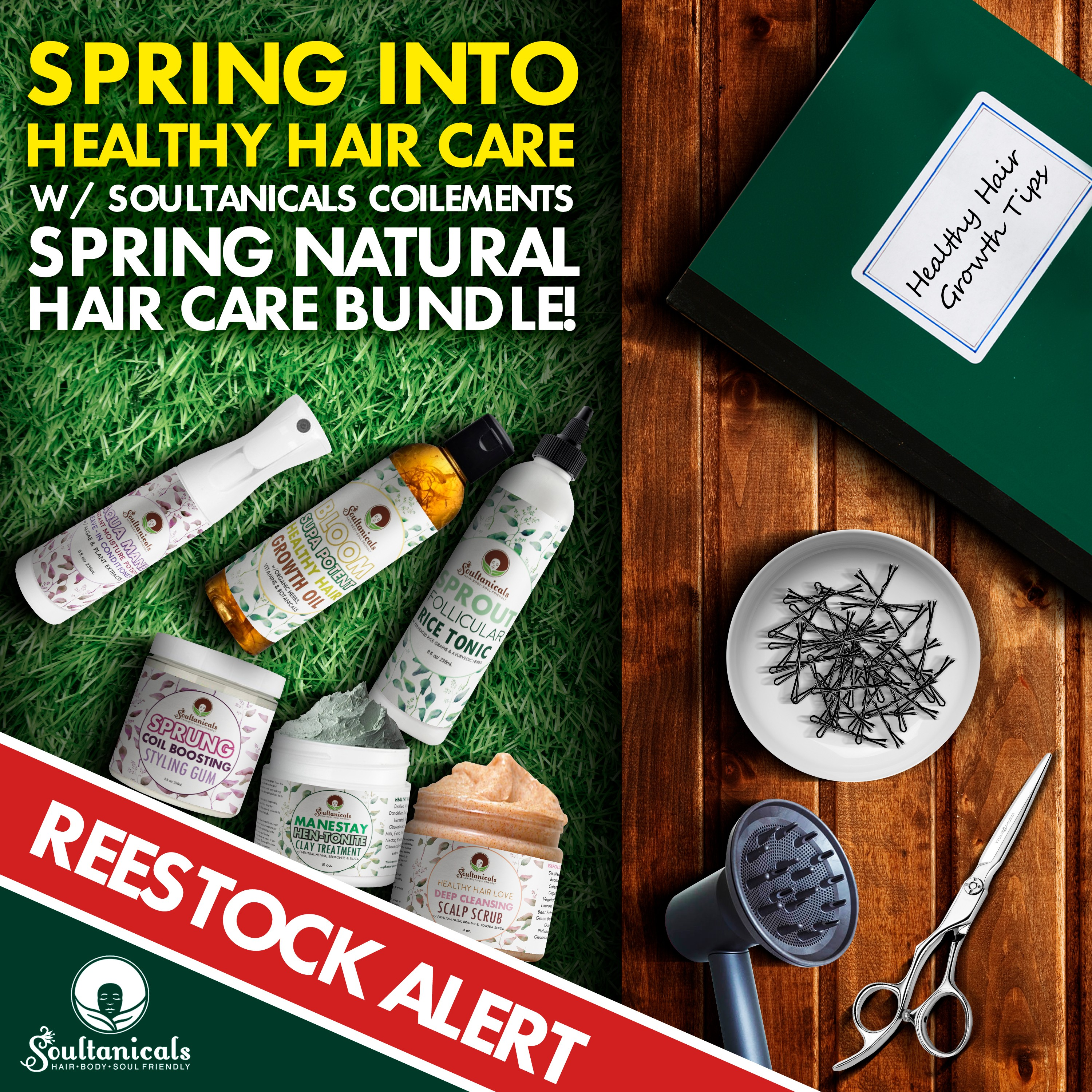 Spring Hair Bundle- Back in stock Ad 8x8