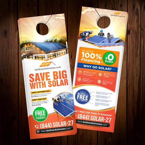 Need A Door Flyer Designed For Our Solar Roof Installation Business