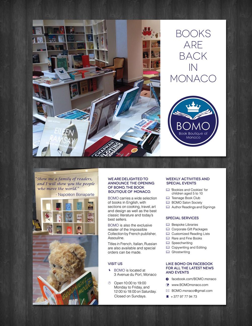 Simple, Elegant, Informative Promotional Flyer for new Bookshop