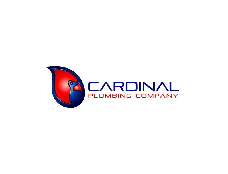Create unique cardinal bird image for plumbing company
