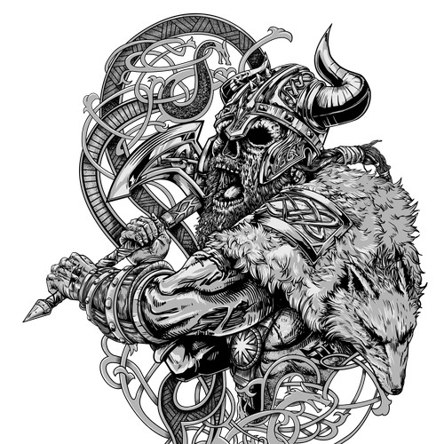 Viking tshirt design