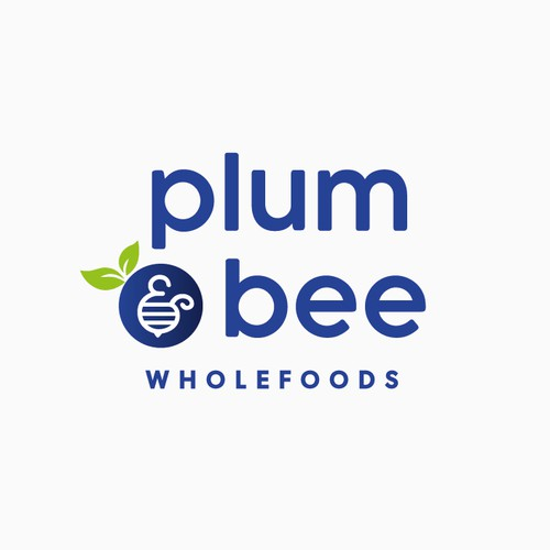 Minimal Logo Concept for Plum & Bee