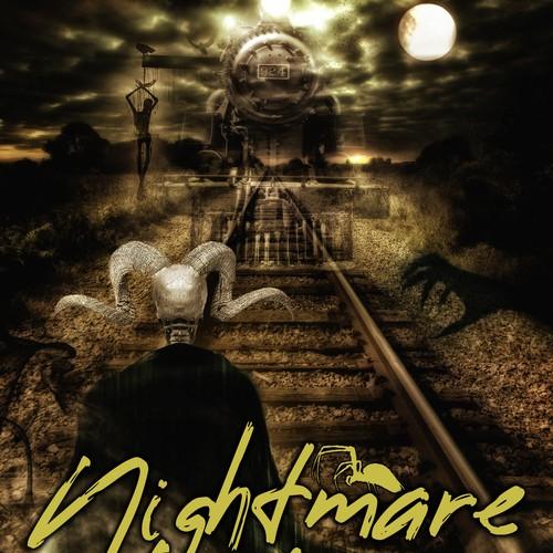 Book cover design - Nightmare Train by author Karmellah Howlett