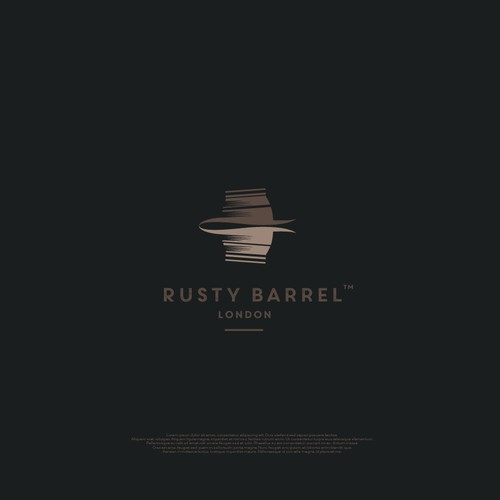 simple and elegant logo for Rusty Barrel