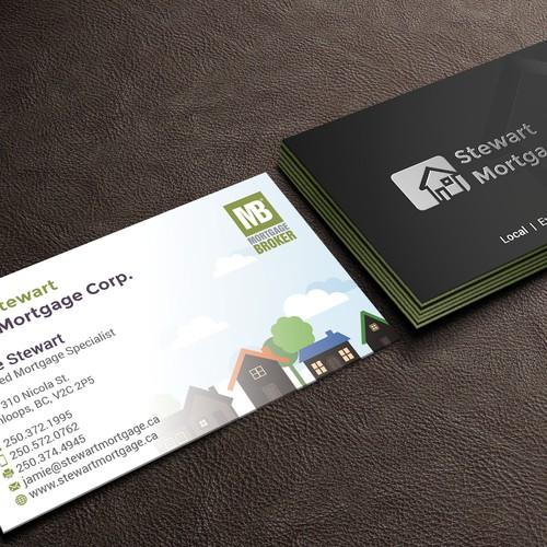 Modern but not corporate business card