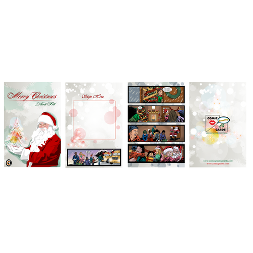 Create an Elegant Merry Christmas Comic Greeting Card