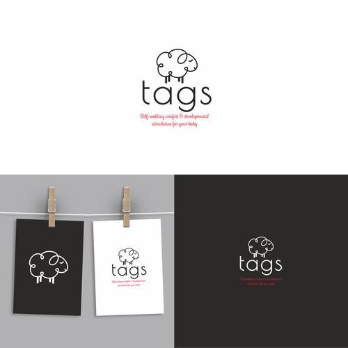 Cute logo design for tags
