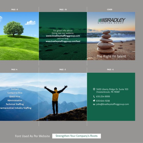 Design a unique brochure with captivating photos- Bradley Staffing Group