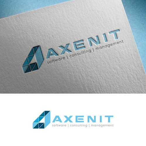 Logo for Axenit - the IT company providing web & mobile development services