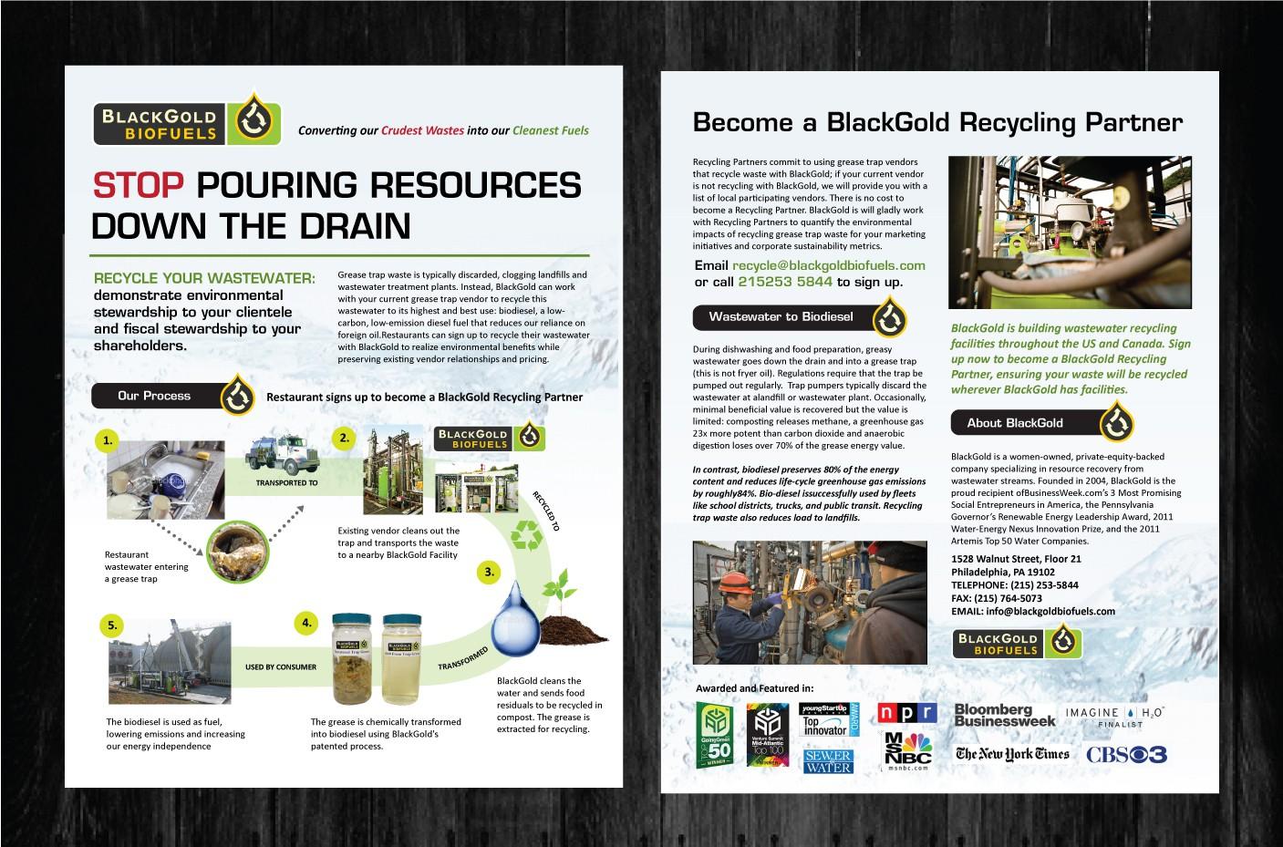 Help BlackGold Biofuels with a handout/brochure!