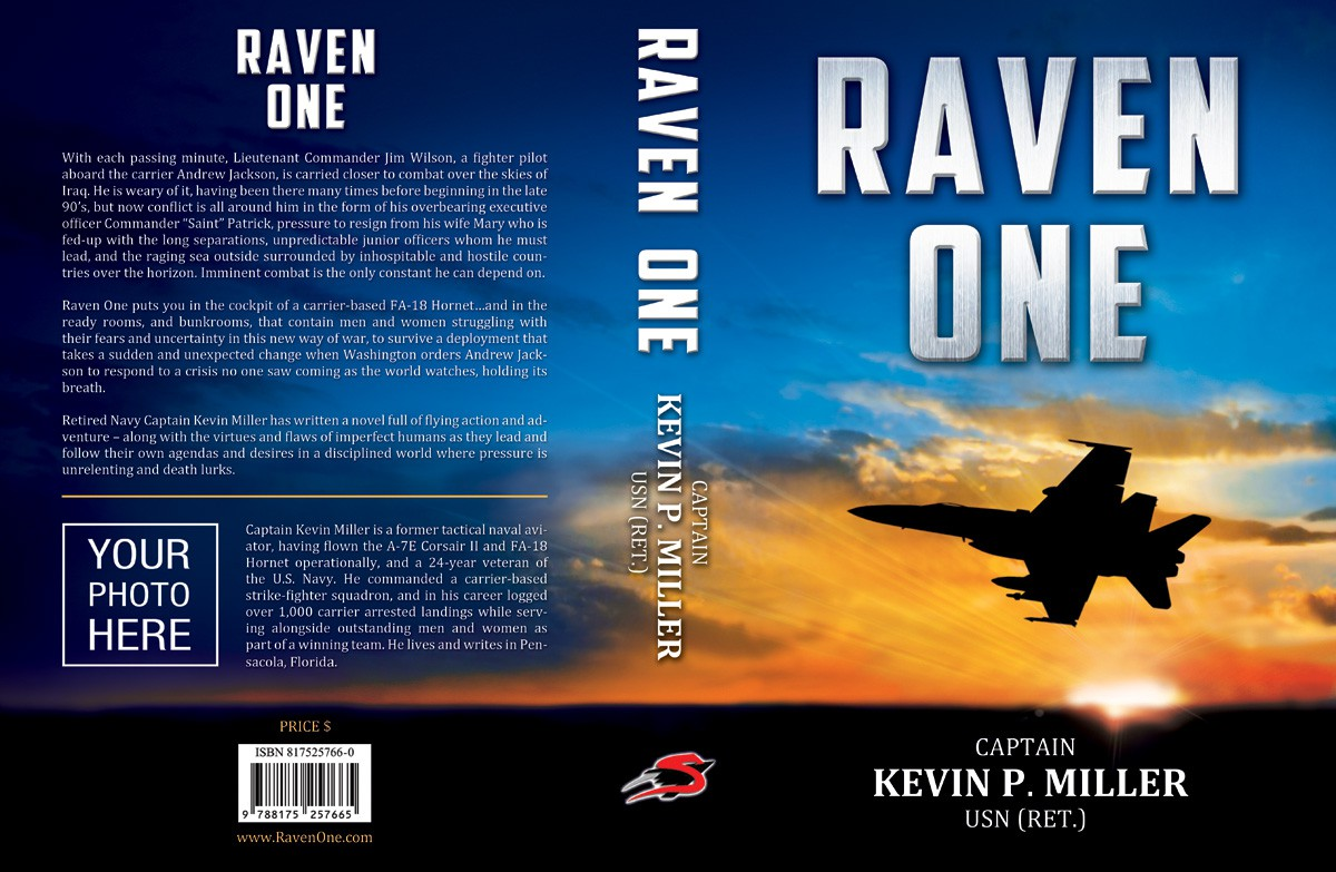 Book cover for action-adventure fighter combat novel Raven One