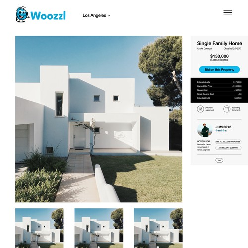 modern & approachable real estate website
