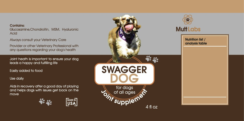 Mutt Labs product label