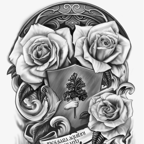 Customized Family crest tattoo design
