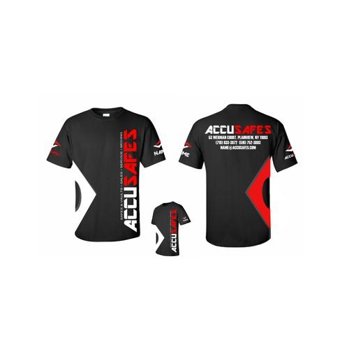 Accusafe.com Crew Shirts