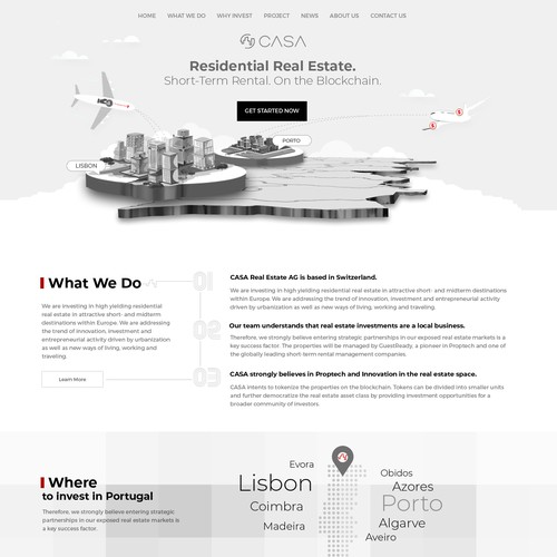 Real estate investment web design