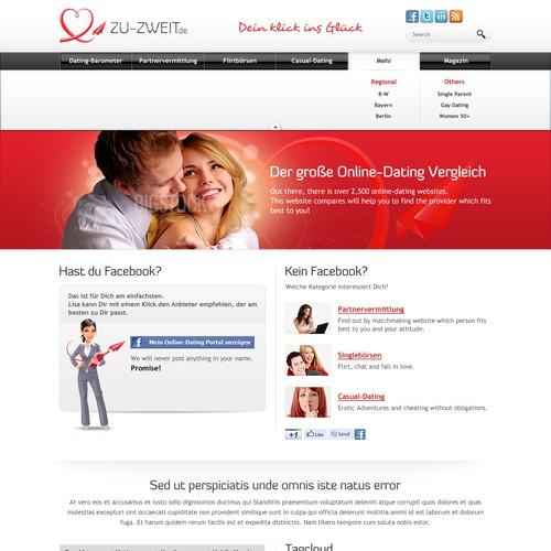 New website design wanted for Online Dating Comparison Website