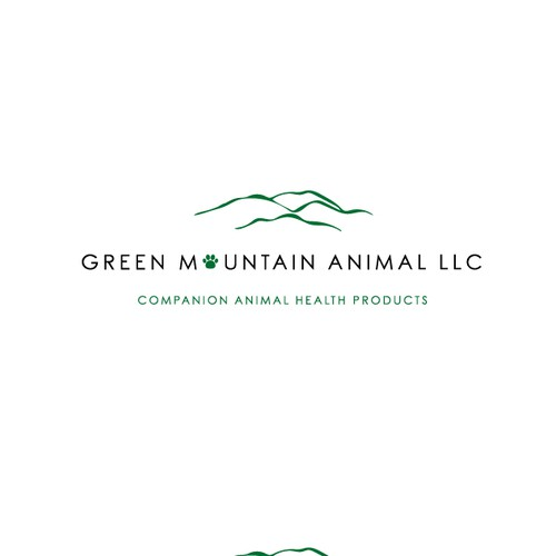 Winning logo for green mountain animal llc