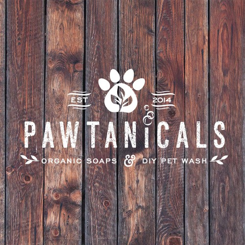 Logo for natural pet soap company