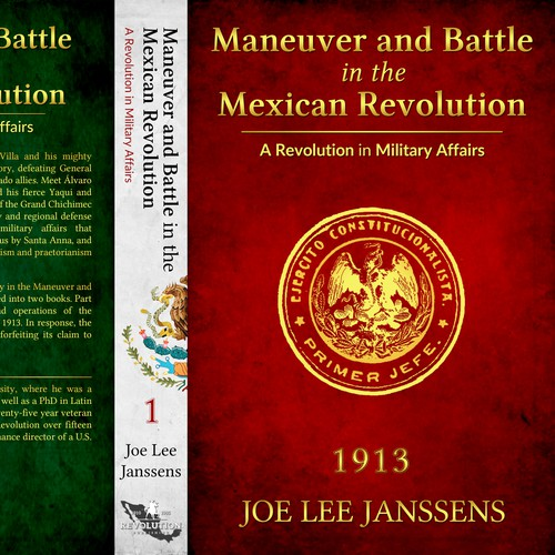"Non-Fiction Book Cover for ""Maneuver and Battle in the Mexican Revolution"""