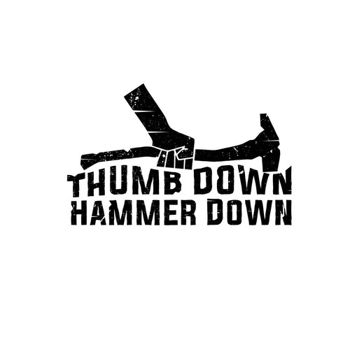 Bold logo concept for thumb down