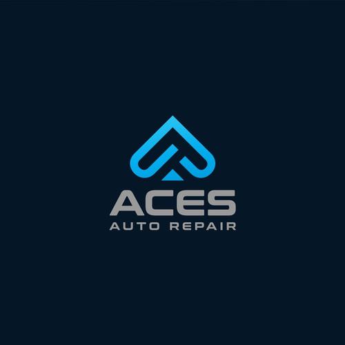 Logo concept for Aces Auto Repair