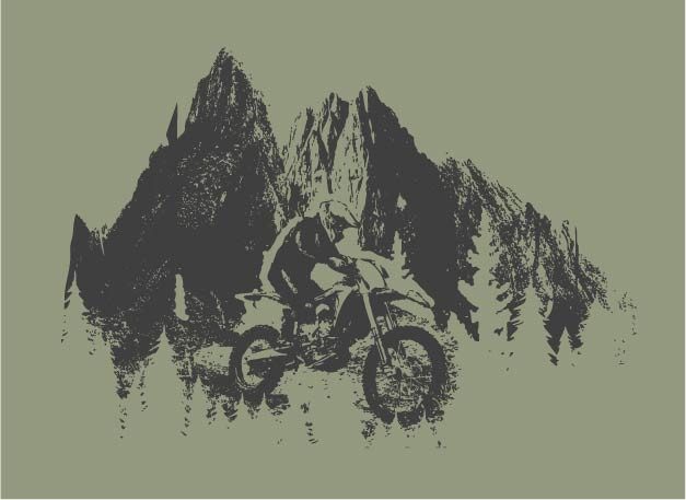 Shirt Design for offroad Dirt Bikers