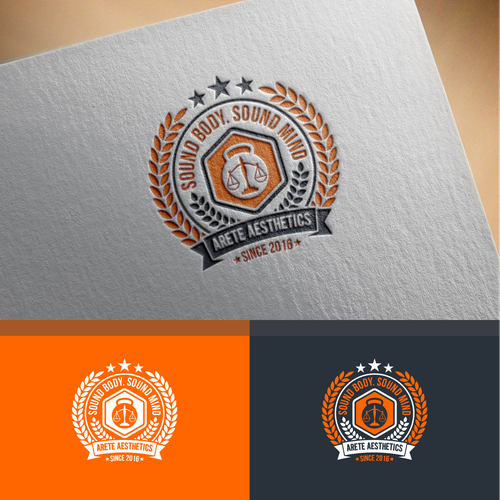 Create a vintage feeling yet modern style logo with classical elements for a health and fitness company