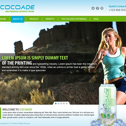 **Urgent**  Need help for a new web design - www.cocoadedrinks.com